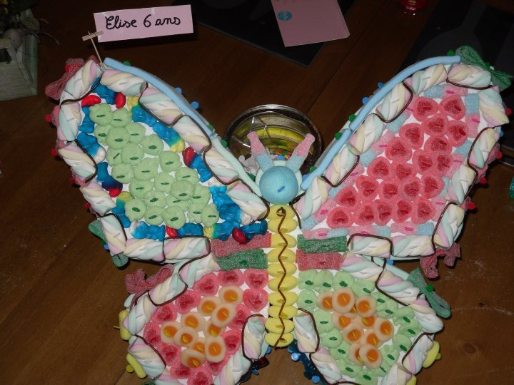 Papillon pour un anniversaire, il n'a pas eu le temps de s'envoler
